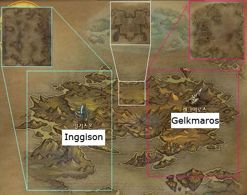 Gelmaros and Inggison map